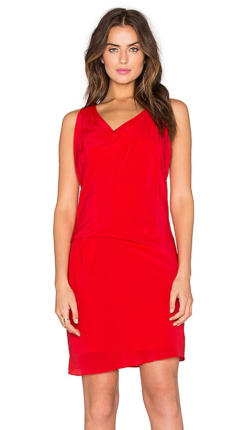 Amanda Uprichard Athena Dress in Red