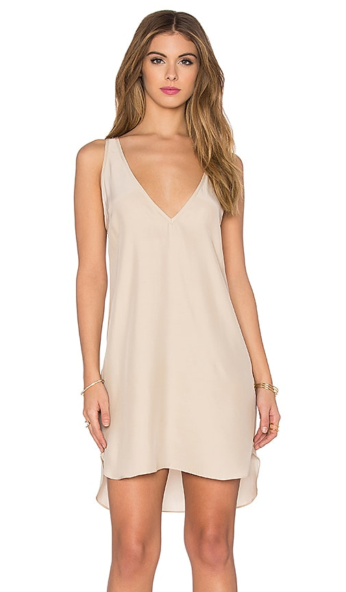 Amanda Uprichard Vita Dress in Beige