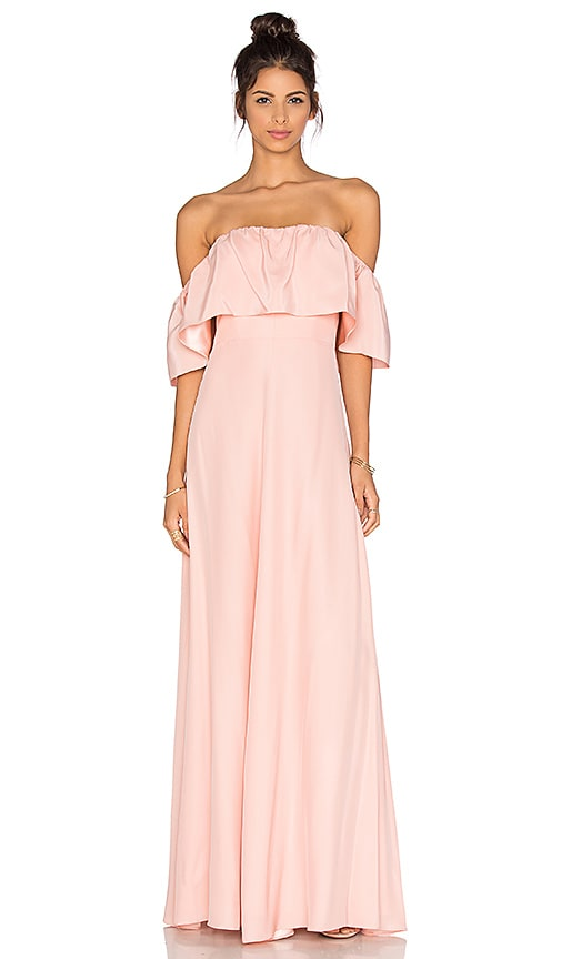 Amanda Uprichard Delilah Maxi Dress in Pink