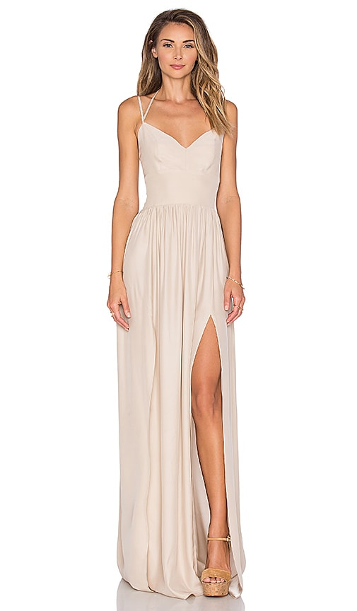 Amanda Uprichard Rio Maxi Dress in Beige
