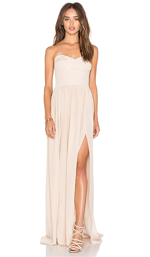 Amanda Uprichard Gisele Maxi Dress in Beige