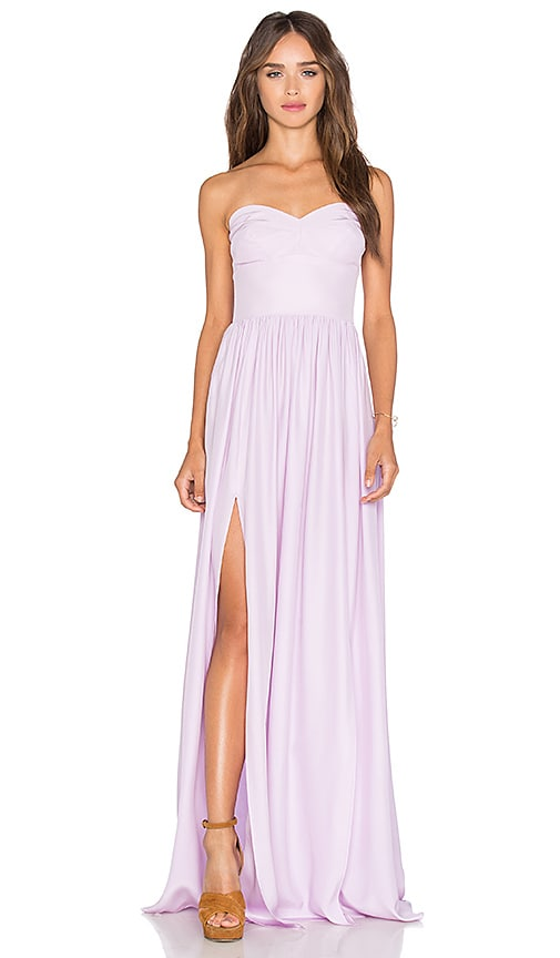 Amanda Uprichard Gisele Maxi Dress in Lilac