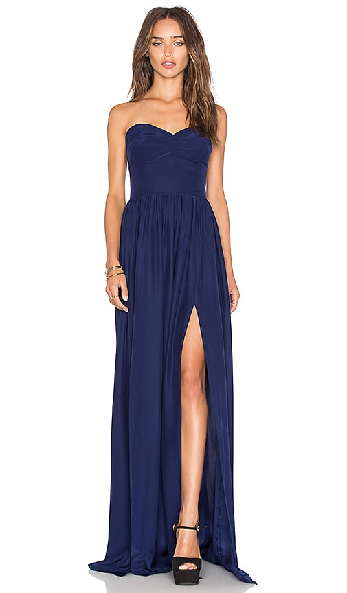 Amanda Uprichard Gisele Maxi Dress in Navy