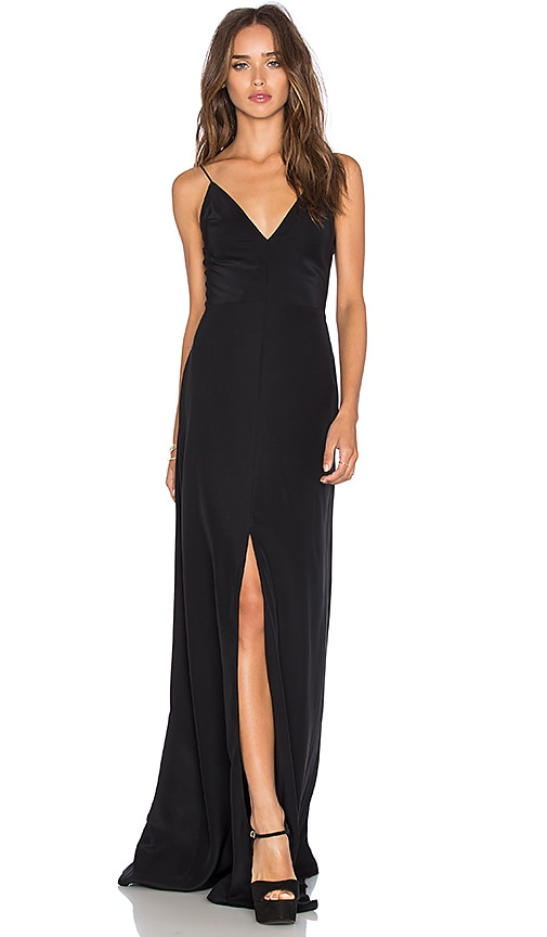 Black Silk Maxi Dress | REVOLVE