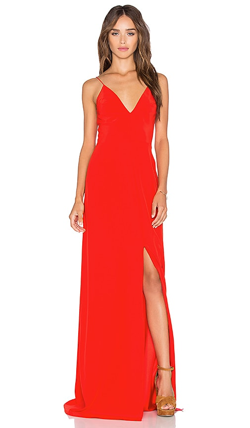 d6b3580340a Amanda Uprichard Trixie Maxi Dress in Candy Apple