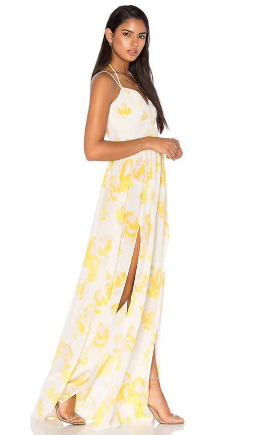 Amanda Uprichard Rio Maxi Dress in Yellow Rose