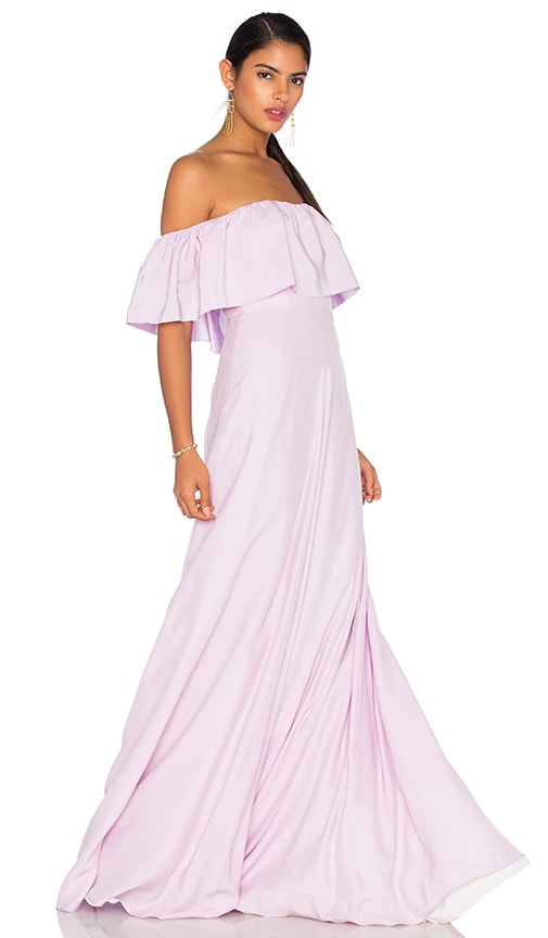 Amanda Uprichard Delilah Maxi Dress in Lavender