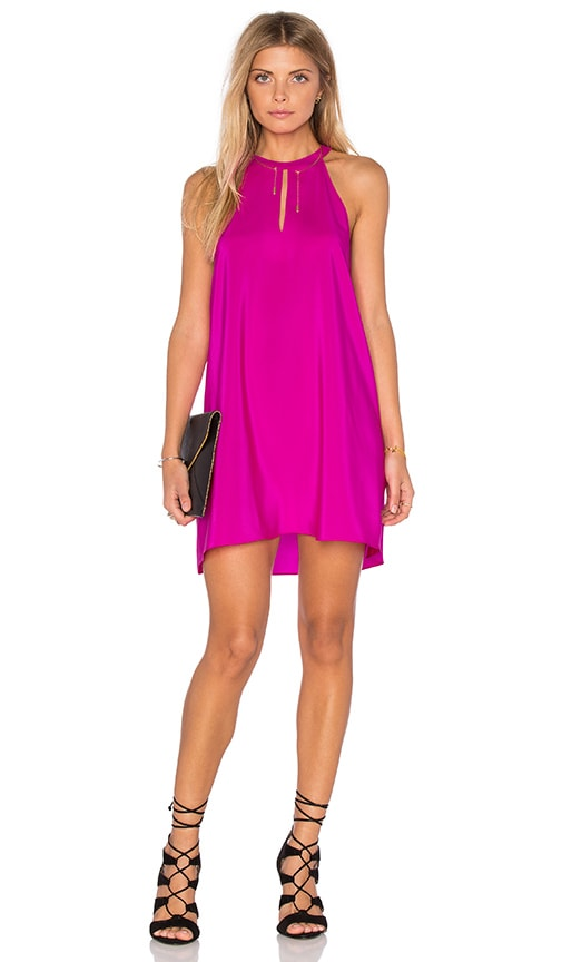 Amanda Uprichard Riley Dress in Fuchsia