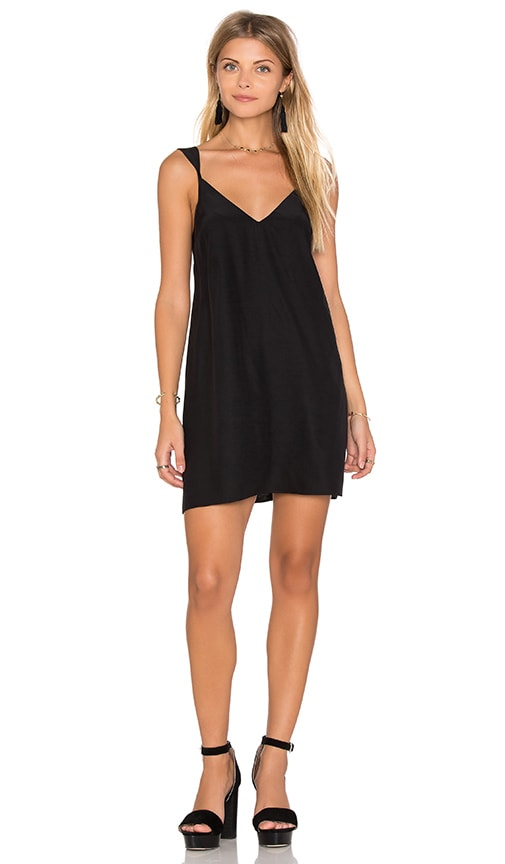 Amanda Uprichard Daphne Mini Dress in Black