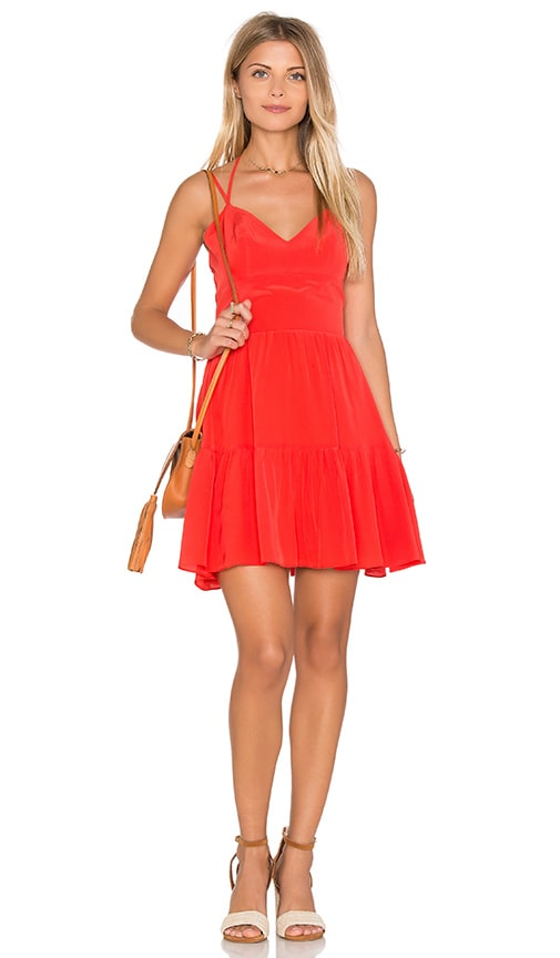 Amanda Uprichard Adelaide Mini Dress in Orange