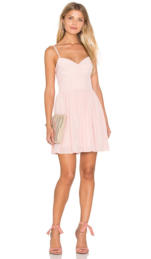 Amanda Uprichard Mai Tai Mini Dress in Dusty Rose