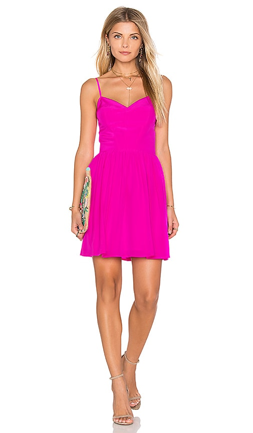 Amanda Uprichard Mai Tai Mini Dress in Pink