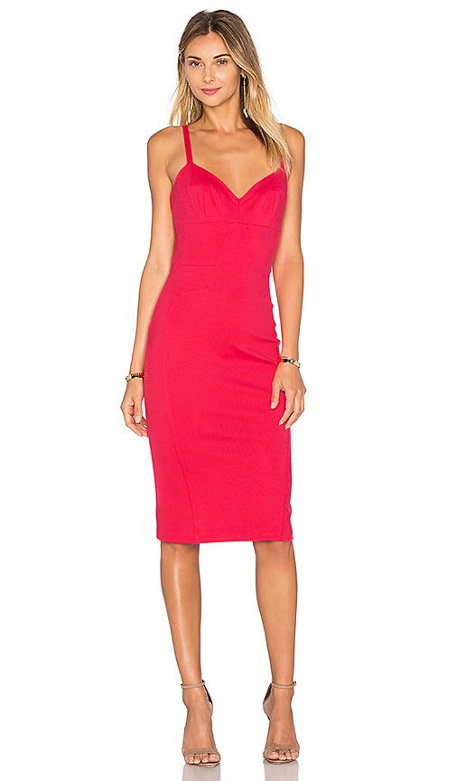 Amanda Uprichard Camille Dress in Red