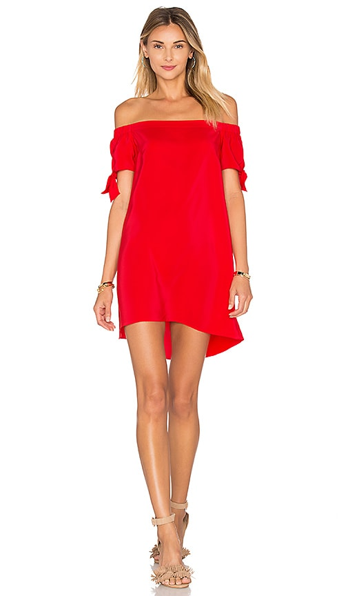 Amanda Uprichard Desiree Mini Dress in CandyApple