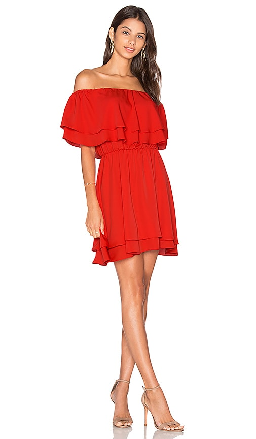 Amanda Uprichard Clementine Mini Dress in Red