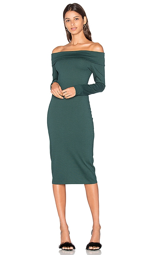 Amanda Uprichard Astaire Dress in Dark Green