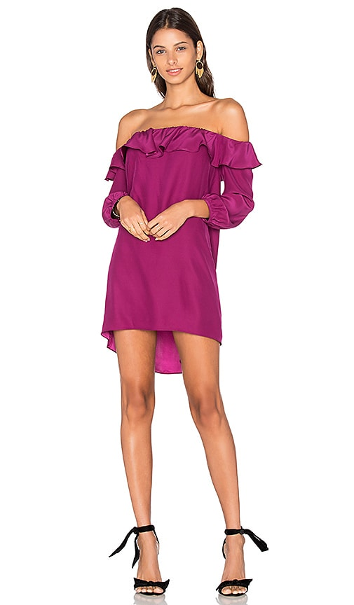 Amanda Uprichard Joanna Dress in Fuchsia