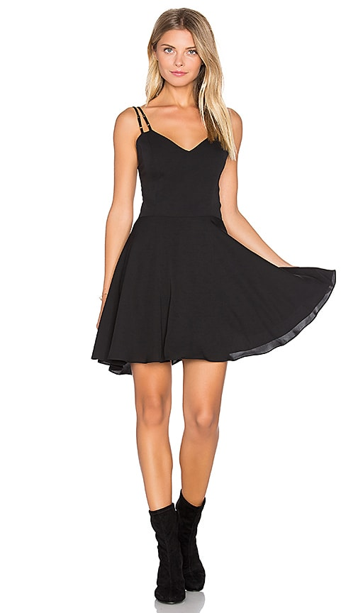 Amanda Uprichard Marie Mini Dress in Black