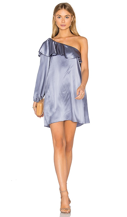 Amanda Uprichard Luella Dress in Metallic Silver