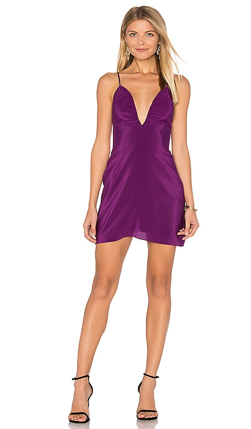 Amanda Uprichard Gramercy Dress in Purple