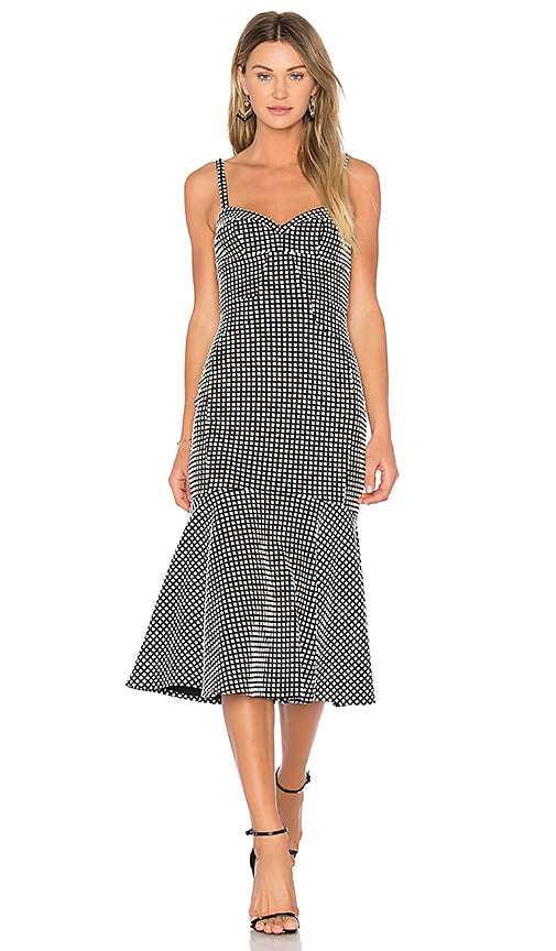 Amanda Uprichard Loulette Dress in Black & White
