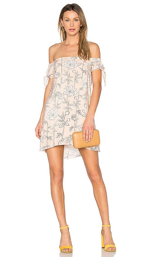 Amanda Uprichard Desiree Mini Dress in Blush