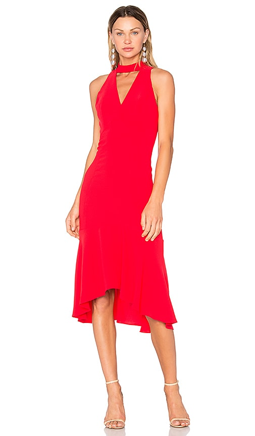 Amanda Uprichard Valentina Dress in Red