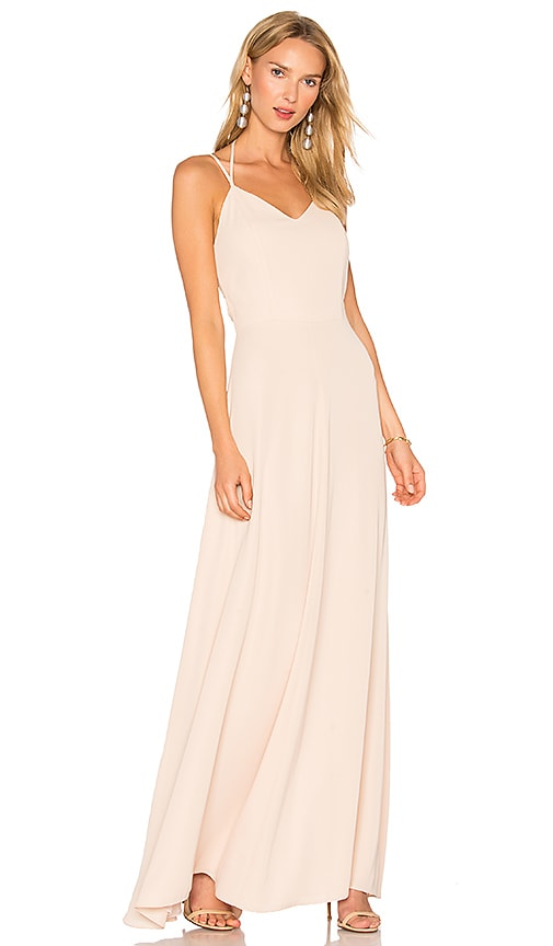 Amanda Uprichard Mallorie Maxi Dress in Beige