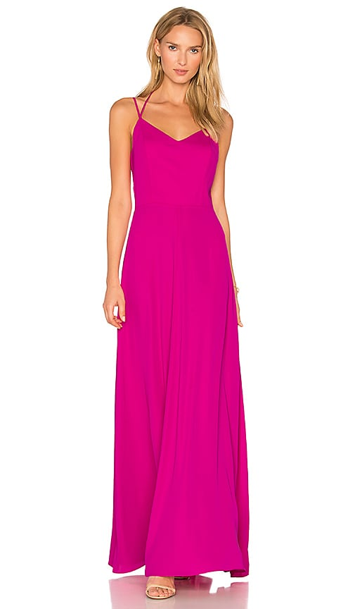 Amanda Uprichard Mallorie Maxi Dress in Fuchsia
