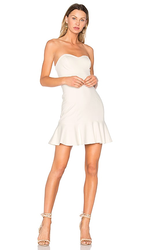 Amanda Uprichard Rocky Dress in Ivory