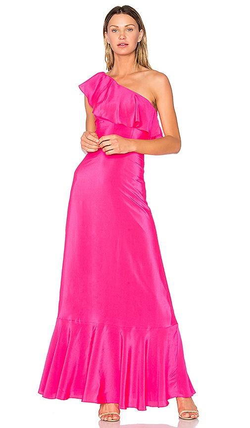 Amanda Uprichard Sedona Maxi Dress in Fuchsia