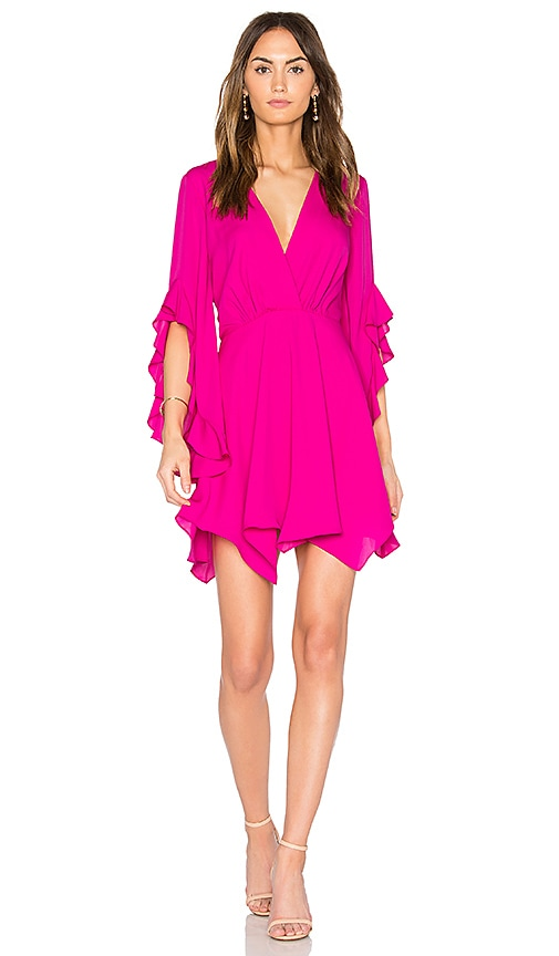 Amanda Uprichard Flutter Sleeve Dress in Pink