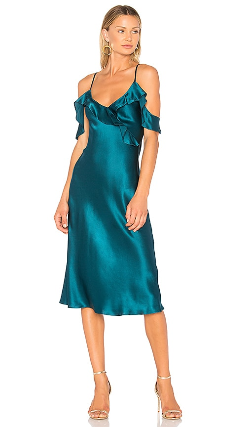 Amanda Uprichard Anika Midi Dress in Turquoise