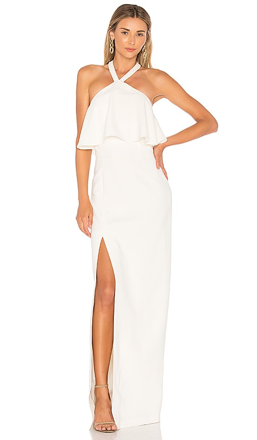 Amanda Uprichard Piazza Maxi Dress in Ivory