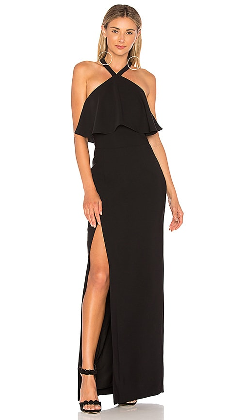 Amanda Uprichard Piazza Maxi Dress in Black