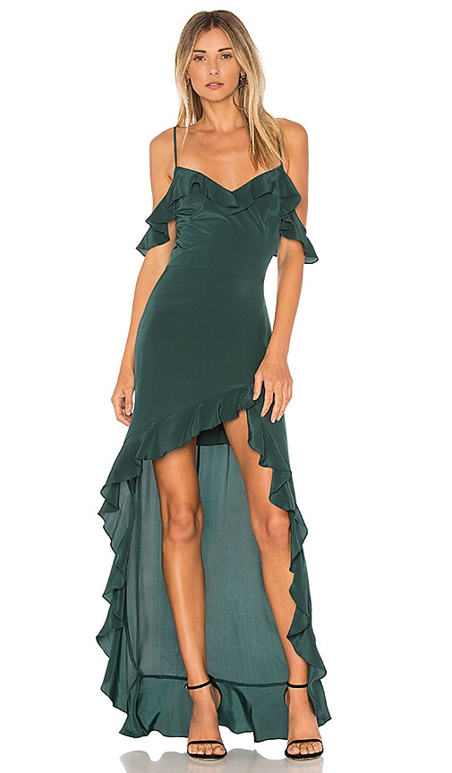 Amanda Uprichard Peony Maxi Dress in Green