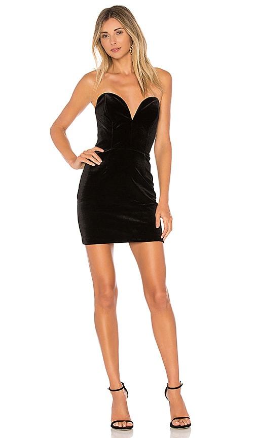 Amanda Uprichard Cherri Mini Dress in Black
