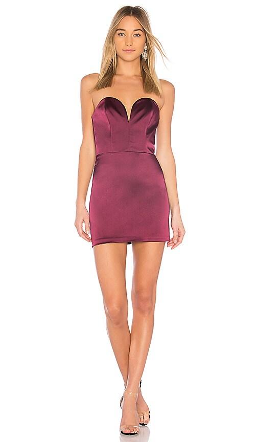 Amanda Uprichard Cherri Mini Dress in Purple