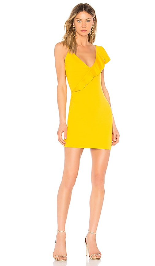 Amanda Uprichard Danica Ruffle Dress in Yellow