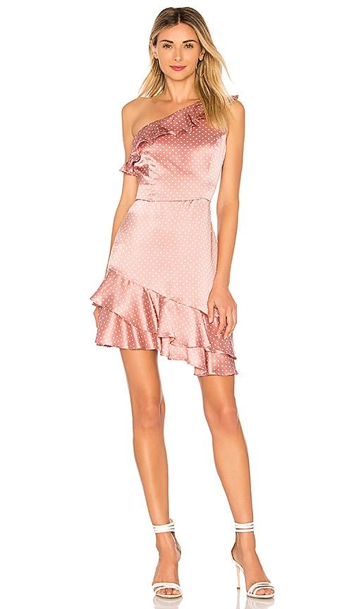 Amanda Uprichard Sorbetto Dress in Mauve