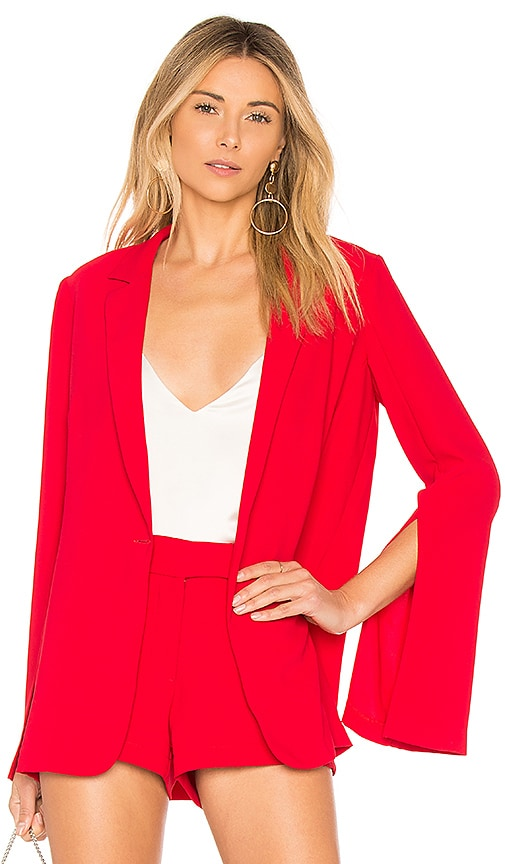 Amanda Uprichard Nolita Blazer in Red