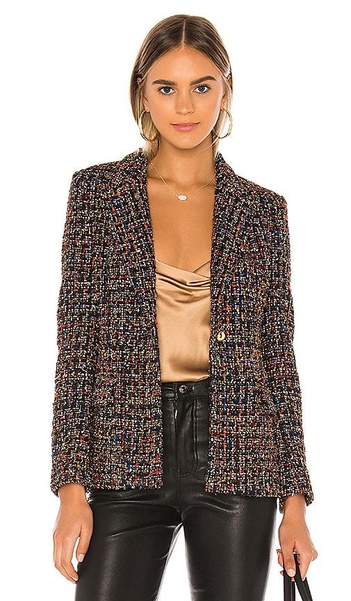 Amanda Uprichard Aldridge Tweed Blazer In Lyra Tweed