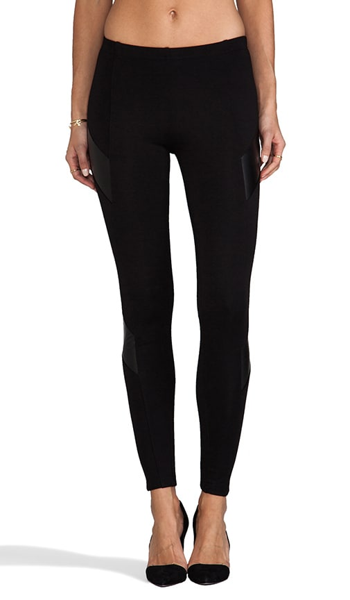 Ponti/Vegan Leather Legging