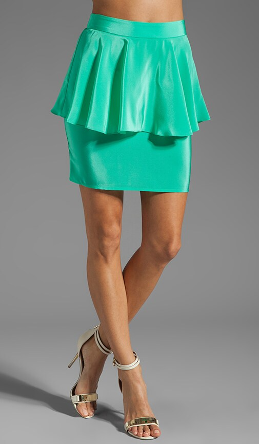 Silk Peplum Skirt