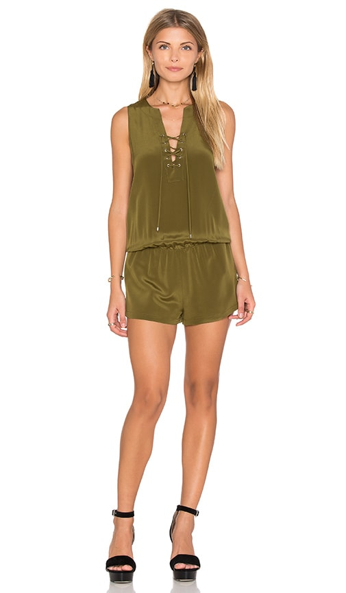 Amanda Uprichard Michaela Romper in Olive