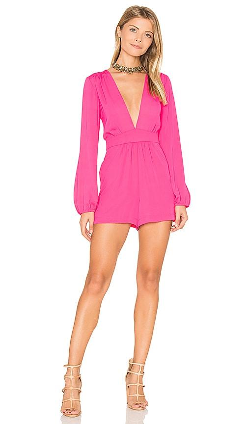 Amanda Uprichard Kim Romper in Pink