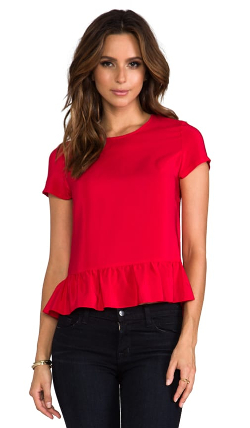 Alyson Short Sleeve Peplum Top
