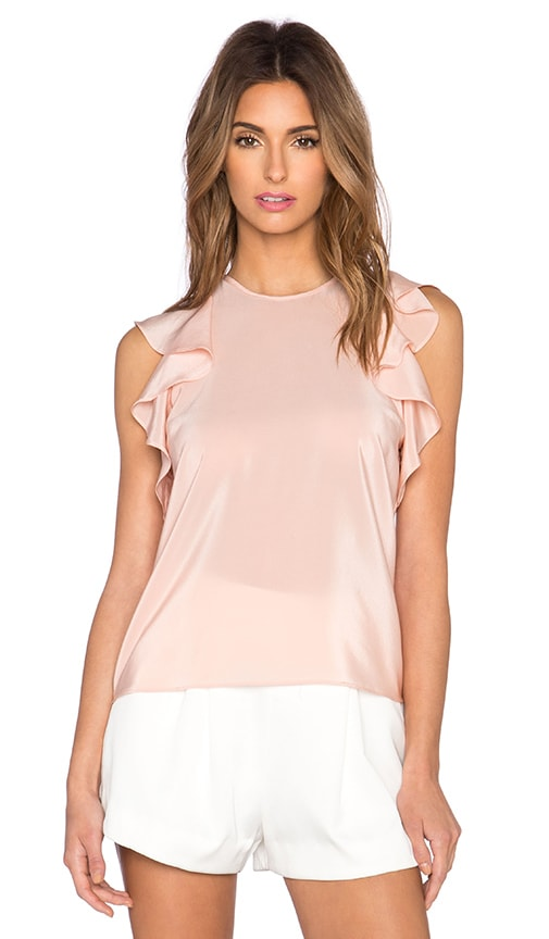 Amanda Uprichard Aimee Blouse in Ballet