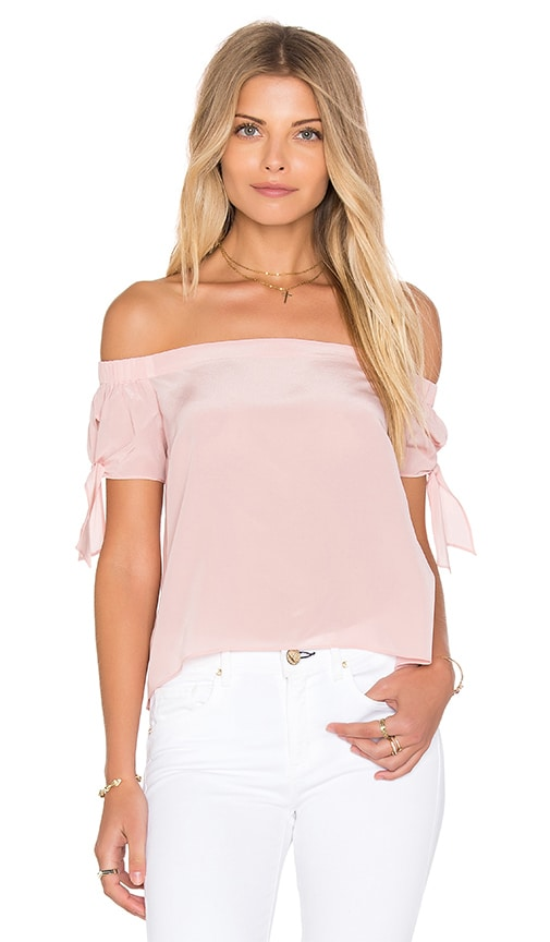 Amanda Uprichard Desiree Top in Dusty Rose