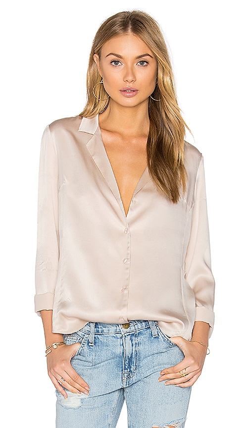 Kimmie Mock Neck Top in Beige. - size L (also in M,S,XS) Amanda Uprichard